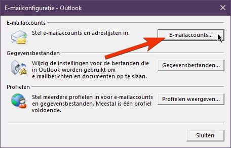 E-mailconfiguratie - Outlook